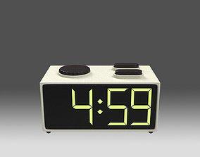 3D asset Retro Radio Alarm Clock