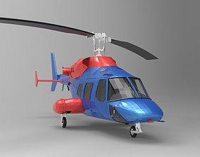 3D model Helicopter bell ranger