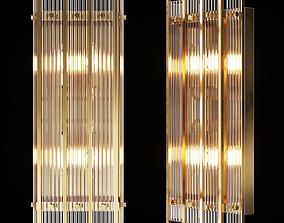 Restoration Hardware SAN MARCO DOUBLE SCONCE Brass 3D