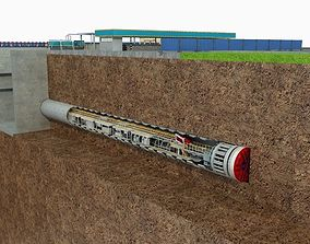 3D model Tunnel Boring Machine Scence