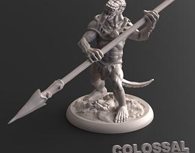 Lizardfolk Male Spear Two Handed A 3D print model