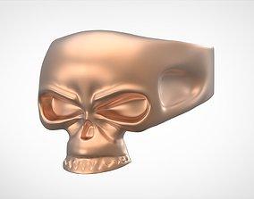gold 3D print model Skull Ring