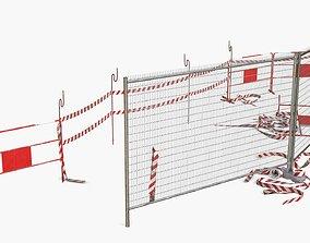 Construction Safety Elements 3D model realtime