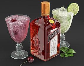3D model Cointreau Fizz Cocktails Set