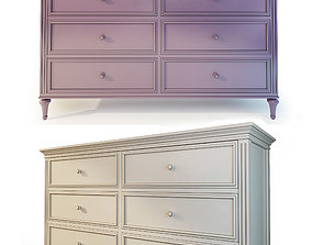 Dresser Riverdi The Werby Purple and 3D model 1