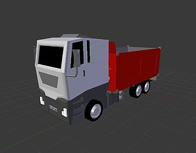 Low Polly Truck Model 3D asset