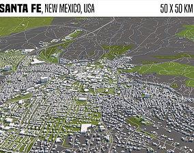 3D Santa Fe New Mexico USA 50x50km