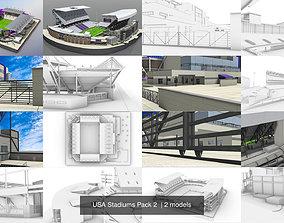 3D exterior USA Stadiums Pack 2