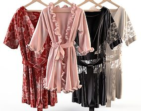 3D model Set of womens silk robes