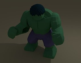 war 3D lego hulk