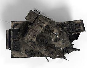 Tank Destroyed 3D asset