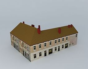Residential house with shops 3D model