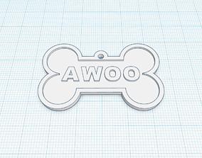 3D print model Canine Bone Tag Package