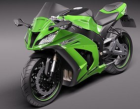 Kawasaki Ninja ZX-10R 2011 3D Model