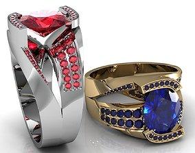 topaz ring jewelry 3D printable model