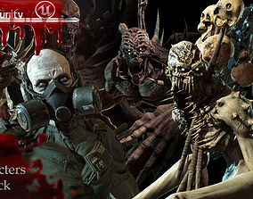 3D model Mutant monster collection pack