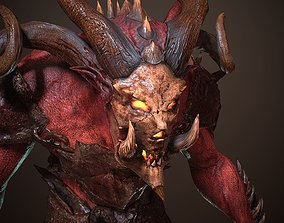 3D model Demon lowpoly and hipoly