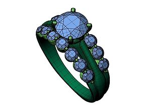 Engagement ring -299 3D print model