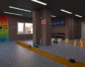 Body or Fitness Gym 3D model