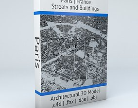 3D model Paris Streets and Buildings