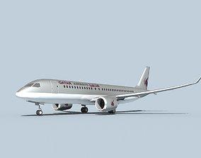 Bombardier CS100 Qatar 3D