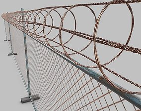 3D Barbed-Wire-Fence