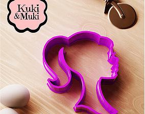 3D printable model Barbie Silhouette Cookie Cutter