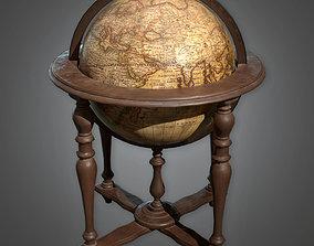 ATT - Standing Globe Antiques - PBR Game Ready 3D model