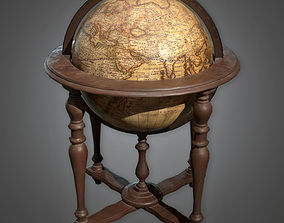 3D asset Standing Globe Antiques - PBR Game Ready