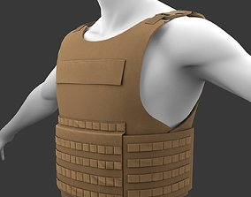 3D model Military Flak Jacket bullet proof vest