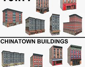 3D asset 10 Chinatown Buildings Collection