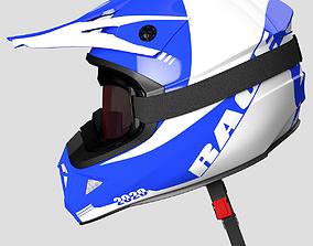 3D Helmet Off-Road and Goggles