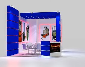 3D model Bemaktherm exhibition stand design