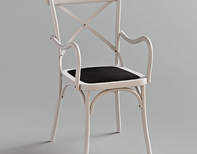 Cross Back Dining Chair With Arms 3D model