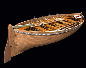Life Boat XIX century 3D asset