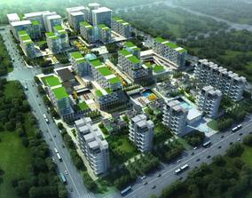 Modern residential community SketchUp model