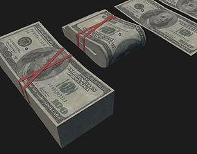 Money USD Pack 3D model realtime