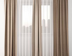 3D model draperies Curtain