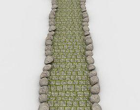 Sidewalk landscape 3D model