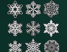 3D print model Snowflakes Pack winter