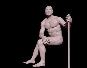3D model Guy sitting down