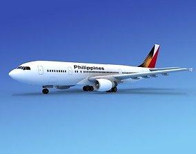 Airbus A300 Phillipines Airways 3D model