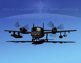 3D model Grumman OV-1D Mohawk V03