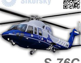 3D asset Sikorsky S76C Bostom Med Flight
