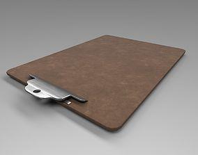 Low Poly Clip Board 3D model