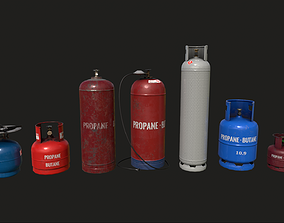3D model Propane Tanks Set