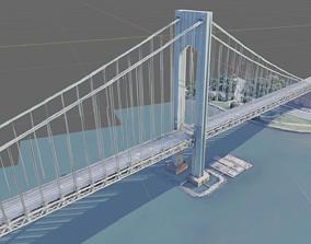 New York City Bridge 3D model
