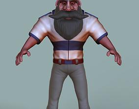 Character Design Marine Captain 3D model