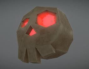 3D model Pixelated Fantasy Skull