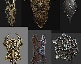 Collection fantasy shields 3D